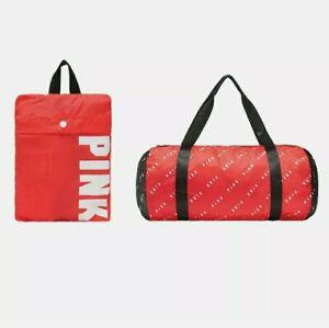 VS Victoria's Secret PINK Red Packable Duffel Bag