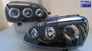 Black LED Projector Headlights for 03-08 VW Golf 5 MK5 GTI TDI Head lights