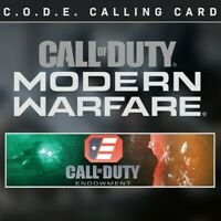 Call of Duty Modern Warfare code C.O.D.E. Calling Card