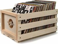 Crosley AC1004A-NA Record Storage Crate, Holds Up To 75 Albums, Natural Finish