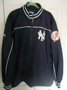 Majestic New York Yankees Polyester Jacket Lined Men's Size XXL Navy & White