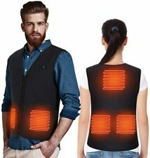 Heated Vest Jacket for Men & Women Electric Body Warmer Motorbike USB Powered