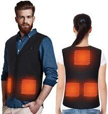 Heated Vest Jacket for Men & Women Electric Body Warmer Motorbike USB Powered