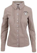 L' ARGENTINA Damen Bluse Women Shirt Größe 38 M 100% Baumwolle Cotton Braun NEU