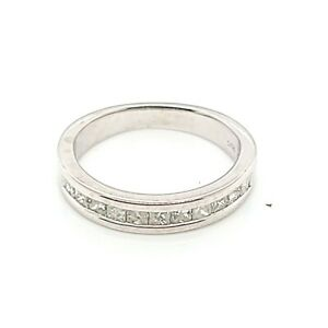 Helzberg Natural 1/2ct Diamond Channel Wedding Anniversary White Gold Band Ring