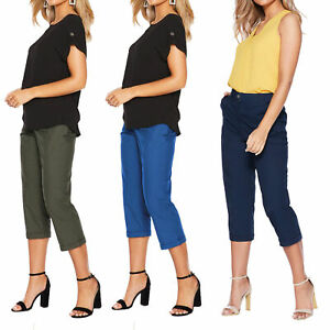Ex Dorothy Perkins Womens  3/4 Quarter Capri Trouser Pants Cropped Ladies Shorts