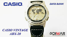 VINTAGE CASIO ABX-20 DATA BANK WORLD TIME TWINCEPT QW.1349 WR.50M. ANA/DIGI