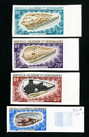 New Caledonia Stamps # 370 + C58 Scarce Imperf shells NH
