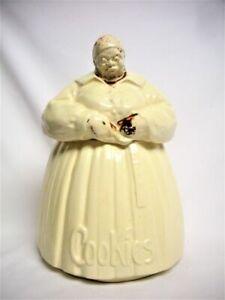 Authentic 1940's McCoy Pottery Black Americana Cookie Jar Cannister Vintage Aunt