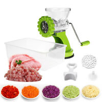 Multifunction Meat Grinder Manual Mincer Machine Stainless Steel Blade Kitchen