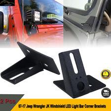 Windshield Hinge Lower Corner Bracket For Work Light 2007-2017 Jeep Wrangler JK