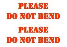 180 ebay seller DO NOT BEND package labels.  Choose font color.