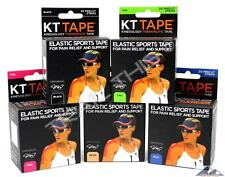 5-Pack KT Tape Therapeutic Elastic Body Sports Tape  Pink/Lime/Black/Beige/Blue