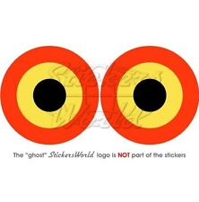 """BELGIUM Belgian Air Force Aircraft Roundel 3"""" (75mm) Stickers Decals x2"""