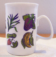 2010 Crabtree & Evelyn Cocoa Bean Botanical Coffee Mug Cup ~ Porcelain ~ Unused
