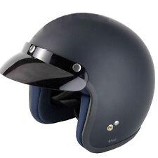 VCAN V500 Open Face Road Classic Jet Crash Scooter Motorcycle Bike Lid Helmet X-large Matt Black