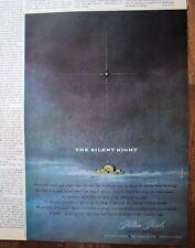 1960 Silent Night  Hilton Hotel Ad
