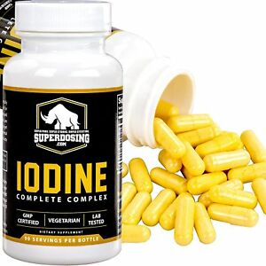 90-Ct. Iodine Complete Complex Supplement for Thyroid Capsules by SuperDosing