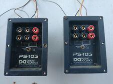 Pair of Design Acoustics PS-103 speaker inputs