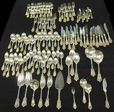 "Wallace ""Grand Baroque"" 119 Piece Sterling Silver Silverware Flatware Set"