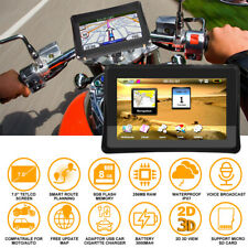 "7 ""voiture moto moto GPS SAT NAV Android Bluetooth WiFi Navigation + cartes SH"