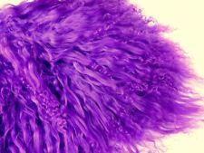"Violet Purple Tibetan Lamb Mohair for Doll Hair Wigs 4 x 4/"" Curly Fur Reroot"