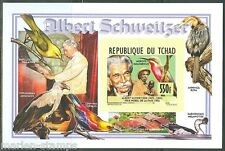 CHAD 2014 ALBERT SCHWEITZER  DELUXE  SOUVENIR SHEET  IMPERFORATED MINT NH