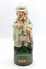 Vintage British Colonial Safari Mouse Hunter GIN Figure Alberta Ceramic Decanter