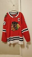 AUTHENTIC JONATHAN TOEWS SIZE 60 HOME RED CHICAGO BLACKHAWKS JERSEY NEW W/ TAGS