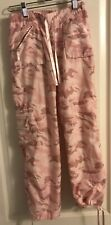 Limited Too: girls pink camo parachute pants size 10: mesh lined