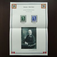 Germany Nazi 1940 Stamps MNH Emil von Behring WWII bacteriologist Discoverer of