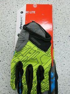 Specialized XC LITE full finger gloves Hyper Green/ Cyan LARGE mountain bike