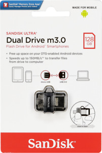 SanDisk Ultra 128GB/256GB M3.0 OTG Micro USB 3.0 Memory Stick Flash Drive-UK