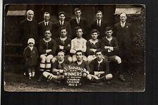 Hull - St. Barnabas Football Team - real photographic postcard