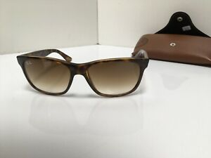 Ray Ban Sunglasses 4181 Tortoise Frame Gradient Brown Lens Excellent Condition