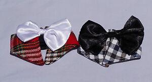 Large dog  bow tie colar, plaid bow tie, fun party, wedding, tartan formal bow