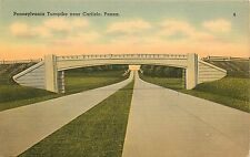 Vintage Linen Postcard Pennsylvania Turnpike near Carlisle PA Cumberland County