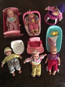 Target Circo Cititoy Baby Doll Lot 6 Dolls w/ Accessories and Outfits