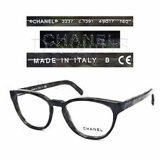 CHANEL 3237 c.1391 Gray Green Marble 49/17/140 Eyeglasses Rx Made in Italy New