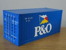 IXO P&O 20FT SHIPPING CONTAINER BLUE TRUCK LOAD MODEL TTR006 1:43