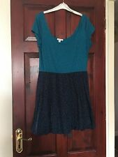 Ladies/girls Cotton Bubble hem Skater Dress Size Large- Fits 12/14