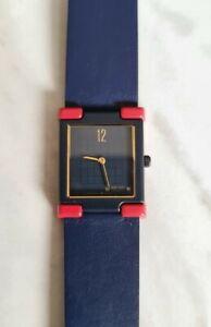 New Nos Seiko Vintage Quartz Ladies Watch 2P20 Rare Blue red face