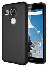Nexus 5X Case - Diztronic Full Matte Black Slim-Fit Flexible TPU Case