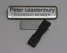 Engraved 75x19mm Domed Name Tag Badge - Magnet fastener.