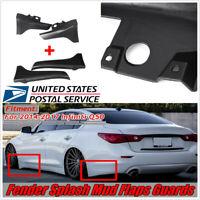 For 14-17 Infiniti Q50 Matte Black Front&Rear Fender Splash Mud Flaps Guards -US