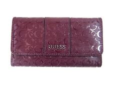 GUESS Ladies Womens WARE SLG Trifold Wallet Clutch BORDEAUX New NWT