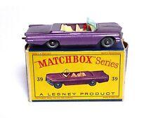 Matchbox Lesney No.39b Pontiac Convertible 'D' Box (METALLIC VIOLET SPW VGC!)