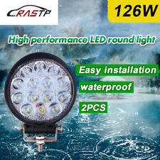 """126W 2Pcs 4.5"""" LED Work Light for Agriculture Machinery Round Spot Beam Driving"""