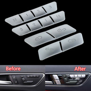 Fit For Mercedes Benz C Class W204 W212 Memory Button Cover Trim Door Lock 12PCS