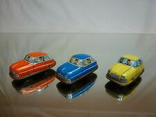 TIN TOY PENNY TOY WESTERN GERMANY - 3 CARS  L4.5cm - GOOD CONDITION